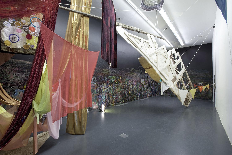 """Installation view. """"Bounty nello spazio"""", GAMeC, Bergamo. Ph: Jacopo Menzani"""